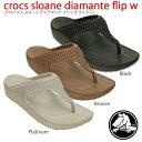 crocs クロックス crocs sloane diamante flip w クロックススローンディアマンテフリップ ウィメン【クロックス国内正規取り扱い】