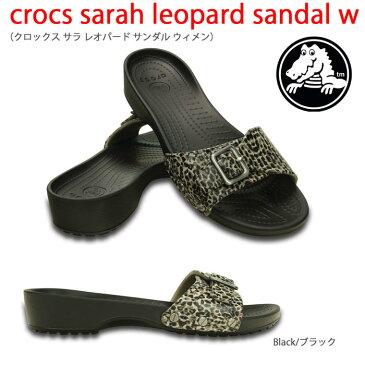 【全品P2倍】crocs クロックス【crocs sarah leopard sandal w/クロックスサラレオパードサンダルウィメン】【クロックス国内正規取り扱い】