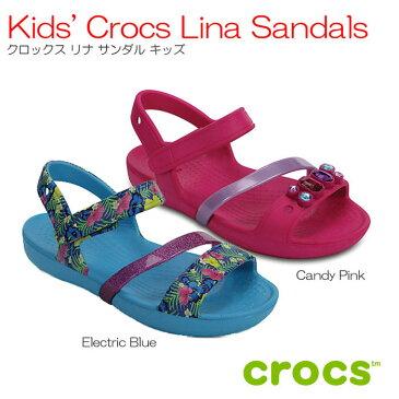【全品P2倍】クロックス crocs Kids' Crocs Lina Sandals クロックスリナサンダルキッズ【クロックス国内正規取り扱い】