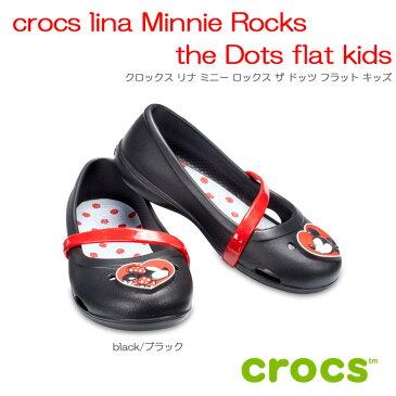 クロックス crocs crocs lina Minnie Rocks the Dots flat kids クロックスリナミニーロックスザドッツフラットキッズ【クロックス国内正規取り扱い】