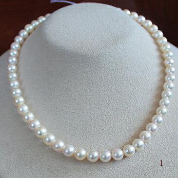 ●アコヤ真珠越物<Vitage Pearl><Round Shape>●Necklace 7-7.5mm<Naturalピンクゴールド><Top quality><Excellent Specialversion>
