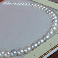●アコヤ真珠越し物<Multi><Topquality><無調色><RoundShape>無穴8-9mm×45コ<ルース><にじいろ>丹秀う彩り<ExcellentSpecialversion>Necklace