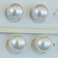 ●アコヤ真珠越し物<ルース>無穴<無調色><Topquality><RoundShape>8.25-8.5mm×2個直結orブラ<TitanPiace><ExcellentSpecial>SVEGK14WGピアスなどはオプション。選択くださいせ。