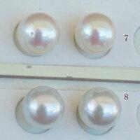 ●アコヤ真珠越し物<ルース>無穴<無調色><Topquality><RoundShape>8.5-8.75mm×2個直結orブラ<TitanPiace><ExcellentSpecial>SVEGK14WGピアスなどはオプション。選択くださいせ。