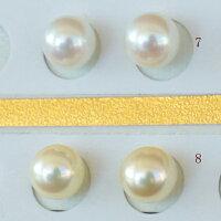 ●アコヤ真珠越し物<ルース>無穴<無調色><Topquality><RoundShape>7-7.25mm×2個直結orブラ<TitanPiace><ExcellentSpecial>SVEGK14WGピアスなどはオプション。選択くださいせ。