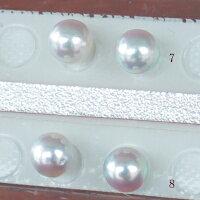 ●アコヤ真珠越し物<ルース>無穴<無調色><Topquality><RoundShape>6.25-6.5mm×2個直結orブラ<TitanPiace><ExcellentSpecial>SVEGK14WGピアスなどはオプション。選択くださいせ。