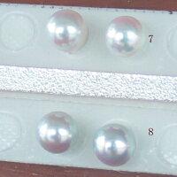 ●アコヤ真珠越し物<ルース>無穴<無調色><Topquality><RoundShape>6.5-6.75mm×2個直結orブラ<TitanPiace><ExcellentSpecial>SVEGK14WGピアスなどはオプション。選択くださいせ。