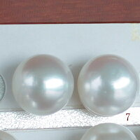 ●白蝶真珠ペア13-14mm(横幅)<OvalShape><SemiRoundShape><NaturalWhite><TitanPiace>直結orブラK14WG/K18直結orブラSVEGブラはオプションです。選択くださいませ。※6・7・8追加1900円税別。