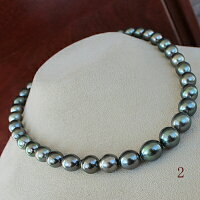 ●黒蝶真珠<Peacock>8-11.5mm<SemiRoundShape><ReasonableSpecial>Necklace
