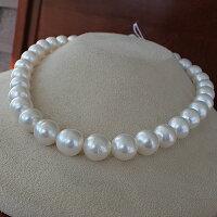 ●白蝶真珠10.0-12.3mm<NaturalWhite>37コ<SemiRoundShape><ExcellentSpecial>Necklace「真珠の一週間」