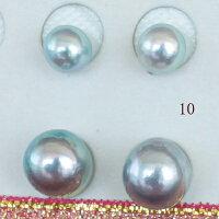 """●アコヤ真珠越し物<Natural><生玉><RoundShape>5.75-6mm×2個直結&8.25-8.5mm×2個ブラW環(脱着可)<TitanPiace>""""装せ替え""""W環直結スタイル<ExcellentSpecial>SVEGK14WGピアスなどは選択くださいせ。"""