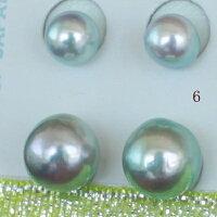 """●アコヤ真珠越し物<Natural><生玉><RoundShape>6.25-6.5mm×2個直結&8.75-9mm×2個ブラW環(脱着可)<TitanPiace>""""装せ替え""""W環直結スタイル<ExcellentSpecial>SVEGK14WGピアスなどは選択くださいせ。"""