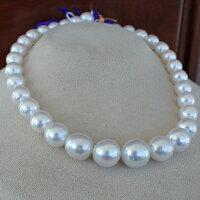●白蝶真珠<RoundShape><NaturalWhite>35コ10-14.5mm<ExcellentSpecial>Necklace「真珠の一週間」