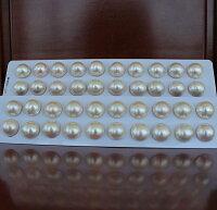 ●マベ真珠17-18mmペア<TitanPiace>直結☆K14WG/K18ピアス/SVEGなどはオプションです【値ごろ感】