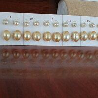 ●アコヤ真珠越し物<ピンククリーム>5-5.5mm×2池蝶真珠<NaturalGold+調色>(横幅)7.5-8mm×2<TitanPiace>W環直結orブラ/ノンホールイヤリング<百合Swing>*SVイヤリングネジバネ直結はオプションです。