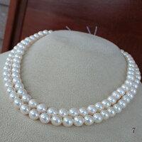 ●アコヤ真珠越し物<ExcellentSpecial>6.5-7mmロング90cm〜