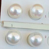●アコヤ真珠越し物<ルース>無穴<無調色><Topquality><RoundShape>8.75-9mm×2個直結orブラ<TitanPiace><ExcellentSpecial>SVEGK14WGピアスなどはオプション。選択くださいせ。