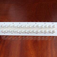 ●アコヤ真珠越し物<ルース>無穴<無調色><Top quality><Round Shape>8.75-9mm(横幅)×2個 直結 or ブラ <Titan Piace><Excellent Special>SV EG K14WGピアス などはオプション。選択くださいせ。