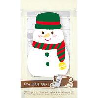 クリスマス ティーバッグ1pcスノーマン(キャラメル)