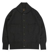 "FREEWHEELERS & CO. [SHAWL COLLAR CARDIGAN TYPE SWEAT SHIRTS ""GO-FAST"" #1834006 SOOT BLACK size.36,38,40,42]"