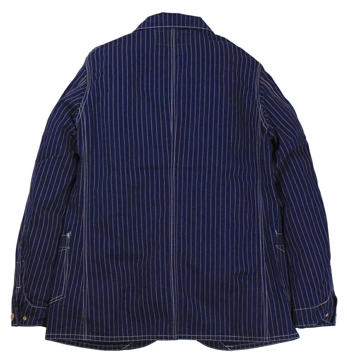 "FREEWHEELERS & CO. [""CONDUCTOR JACKET"" UNION SPECIAL OVERALLS #1921016 INDIGO WABASH STRIPE size.34,36,38,40,42,44]"