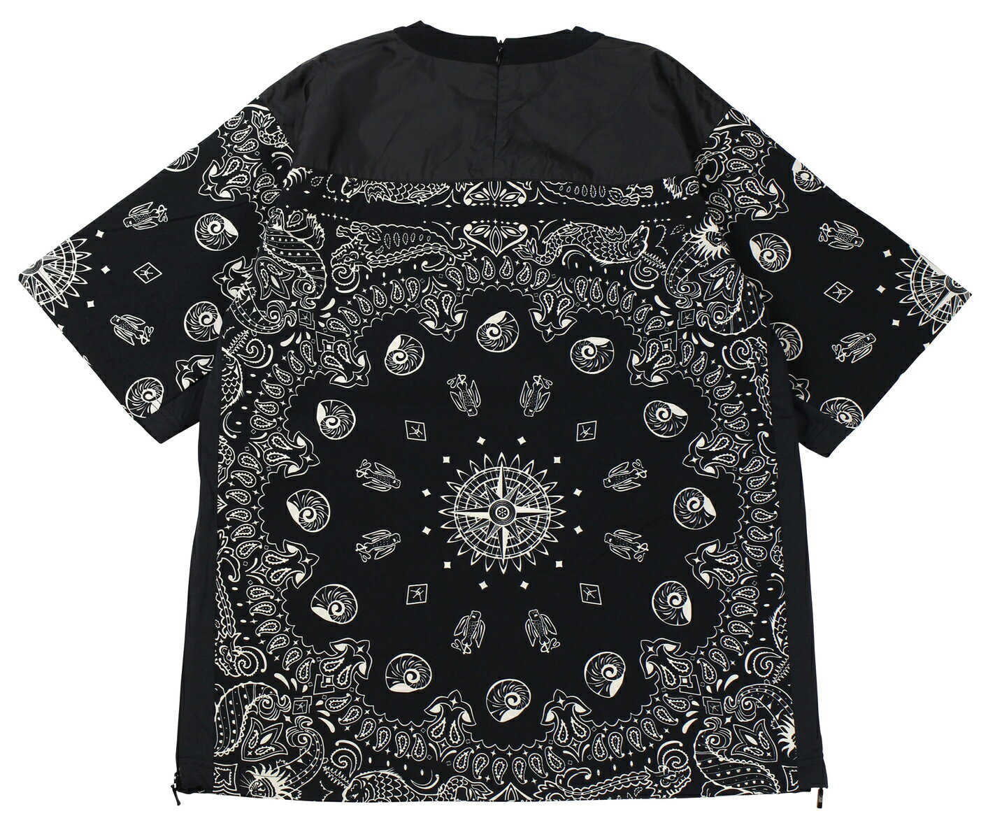 """FREEWHEELERS & CO. [""""Whirlpool"""" ULTIMA THULE EQUIPMENT #1923012 ANCIENT MONSTERS BANDNA PATTERN BLACK size,S,M,L,XL]"""