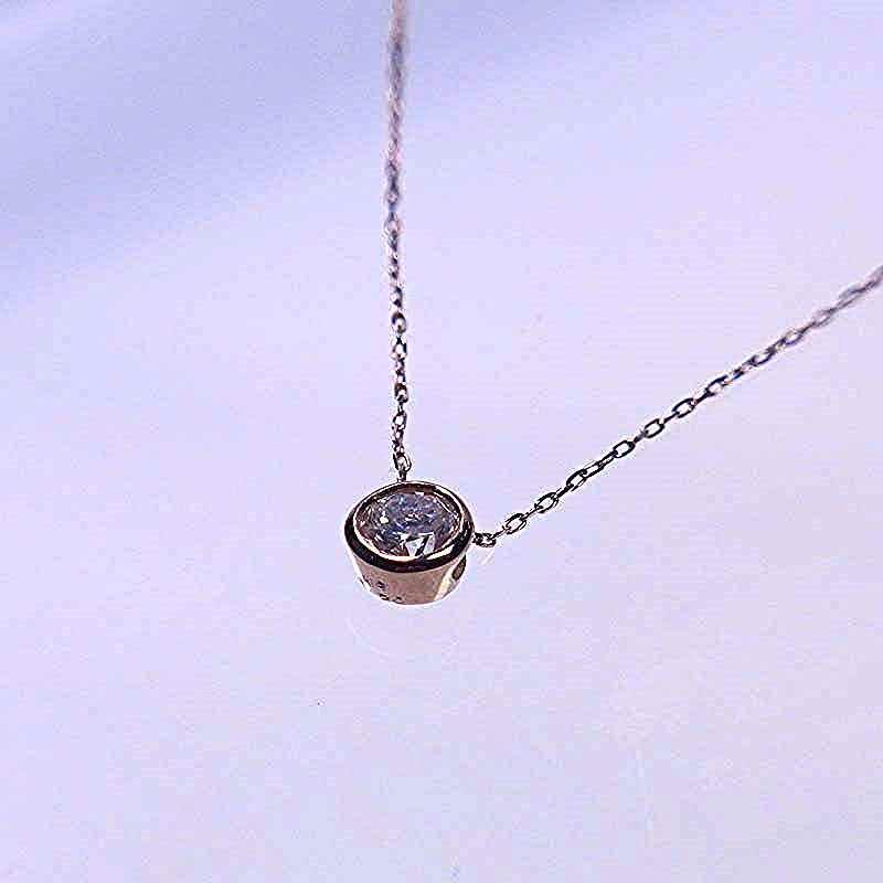 ダイヤモンド ペンダント ネックレス K18PG