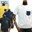 ステュディオ・ダ・ルチザンSTUDIO D'ARTISAN USAコットンデニムポケットTシャツ「9856B」