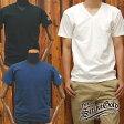 ストライクゴールドTHE STRIKEGOLD オリジナル吊り編みVネックTシャツ「SGT016」/LOOPWHEEL/アメカジ/メンズ/