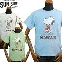 サンサーフ SUNSURF×PEANUTSTシャツ SNOOPYスヌーピー「HAWAII」SS78116