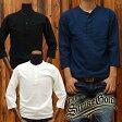 ストライクゴールド(THE STRIKEGOLD) オリジナル吊り編みヘンリーネック7分袖Tシャツ「SGHT002」/アメカジ/メンズ/