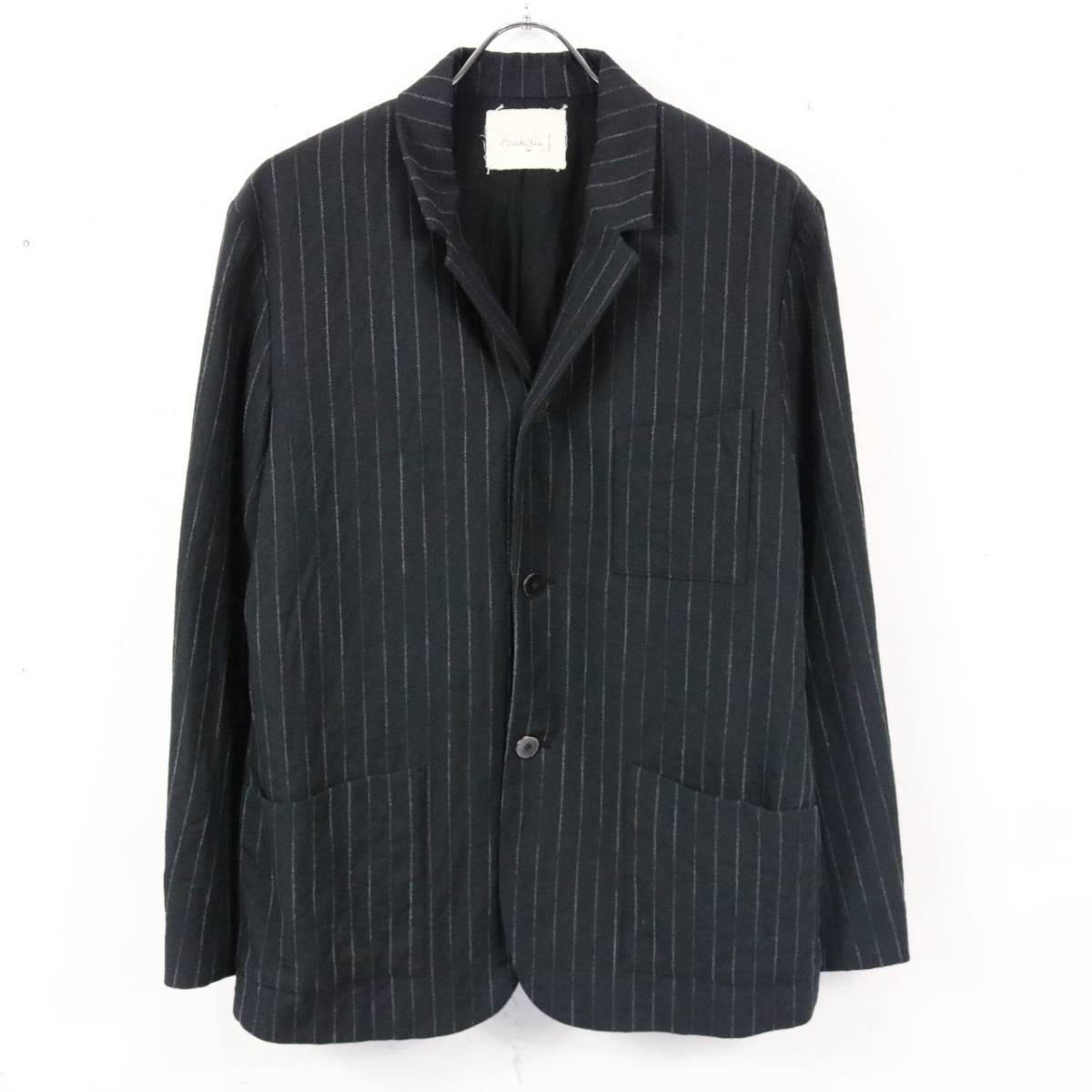 メンズファッション, コート・ジャケット Araki yuu 2018AW tailored jacket. dark stripe black button 1 I222012-P-c360335d1826652