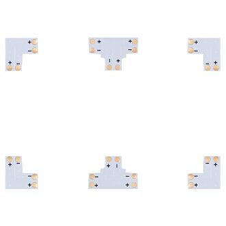 LED 磁帶樹枝岔 L-T-耦合連接器 12 V 為 3528 貼片合併 / 連接器 / 連接器 / 3528 / 貼片