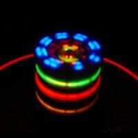7色の光が変化しメロディーにノッテ回って面白い!!光るコマ メロディー付