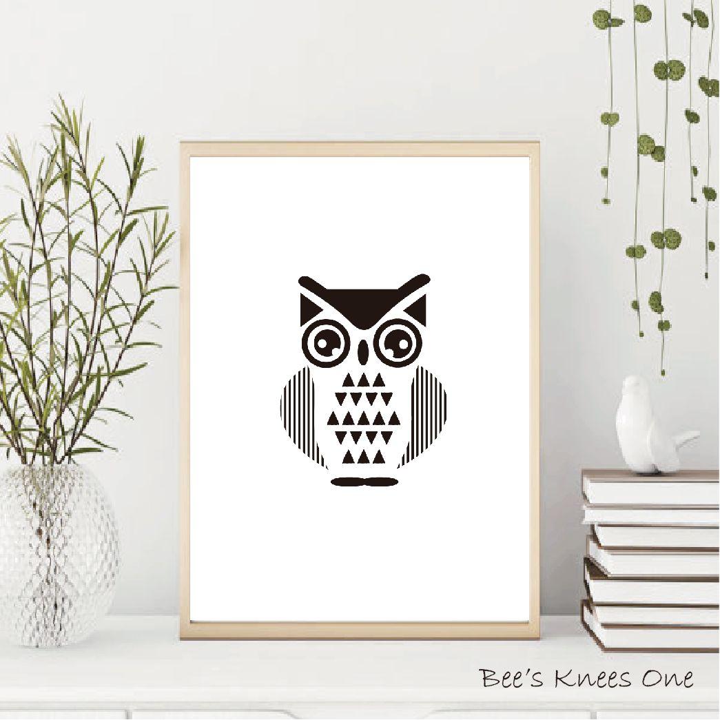 アートポスター『OWL-オウル』 北欧 アートパネル ノルディック A5 A4 A3 A2