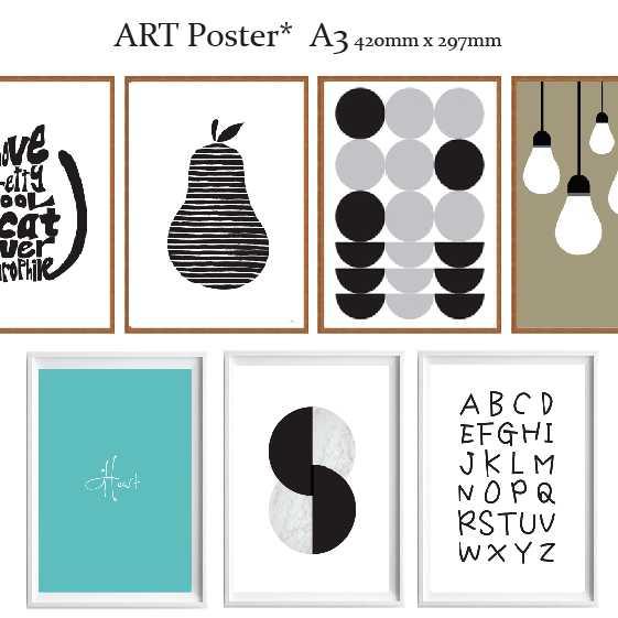 全32種 アートポスター 北欧 ポスター A3サイズ ART デザイン アートプリント インテリア 額縁 フレーム 洋ナシ ボタニカル 犬 猫 モダン スタイリッシュ モノクロ カラー アートパネル