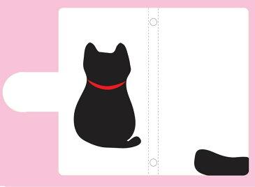 【くろねこみ〜ちゃん】【多数機種対応】カードポケット手帳型ケース スマホケース