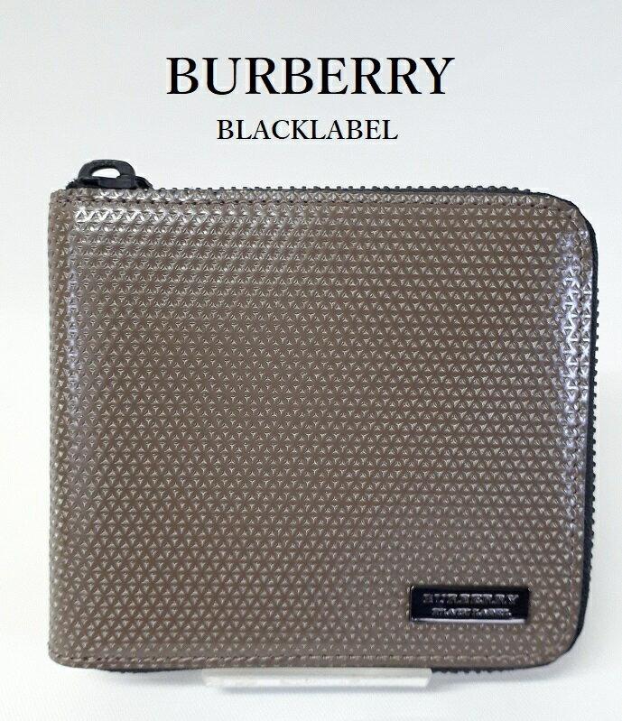 3450aae45e8d ランクS 新品未使用品 バーバリーブラックレーベル【BUBERRY BLACKLABEL】 二つ折り財布 ZIPタイプ () BOX付き
