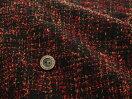 【布帛ウール生地★オレンジ系】暖色系のネップヤーンをザックリ織りあげたおしゃれなツイード生地【50cm単位】(tbb-2)