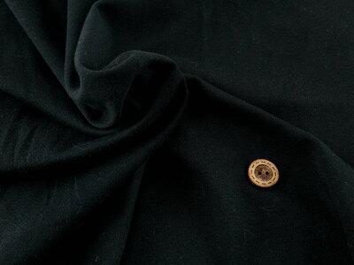 【ワンコインセールスムースニット★ブラック】テンション中の縫いやすいスムースニットベビー用品にも向いています【1m単位】(l-563)