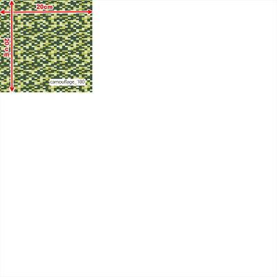 【カモフラ迷彩プリント】クールモーション40T/Rリバー天竺(1mカット全面プリント)接触冷感ニット生地