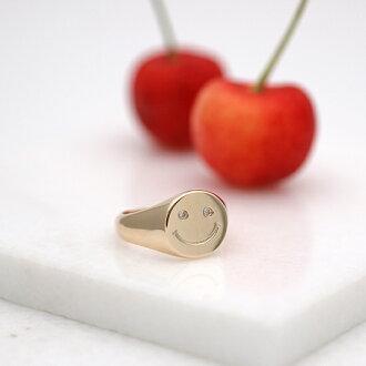 TRIFLESスマイルニコちゃんリング指輪ゴールドK1414金トライフルズダイヤダイヤモンドレディースゴールドシンプル