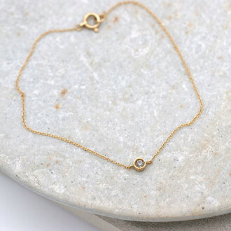 《liloJEWELRY》1粒ブレスレットインクルージョンダイヤ(ライラジュエリー)K18ダイヤグレーダイヤブレス18金レディースゴールドギフトプレゼントシンプル華奢