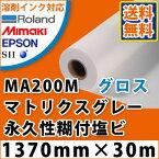 MA200M マトリクスグレー永久性糊付光沢塩ビフィルム(1370mm×30m)