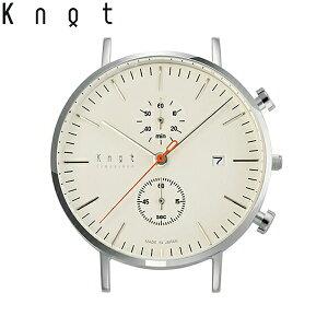 """Knot(ノット)""""クラシック/クロノグラフ""""シルバー&アイボリー時計本体のみ(ベルト別売り)…"""