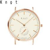 Knot(ノット)クラシック/スモールセコンドローズゴールド & アイボリー時計本体のみ(ベルト別売り)メンズ/男性/レディース/女性/腕時計/サファイアガラス/日本製/ウォッチ/MADE IN JAPAN/おしゃれ/送料無料
