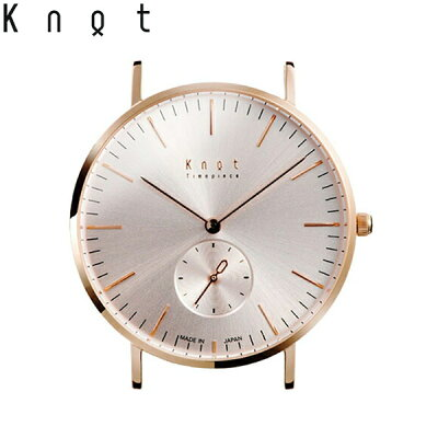 Knot(ノット)クラシック/スモールセコンドローズゴールド&ローズゴールド時計本体のみ(ベルト別売り)メンズ/男性/レディース/女性/腕時計/サファイアガラス/日本製/ウォッチ/MADEINJAPAN/おしゃれ/送料無料