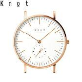 """Knot(ノット)""""クラシック スモールセコンド""""ローズゴールド & ホワイト時計本体のみ(ベルト別売り)腕時計/メンズ/レディース/サファイアガラス/日本製/MADE IN JAPAN/送料無料"""