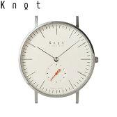 """Knot(ノット)""""クラシック スモールセコンド""""シルバー & アイボリー時計本体のみ(ベルト別売り)腕時計/メンズ/レディース/サファイアガラス/日本製/MADE IN JAPAN/送料無料"""