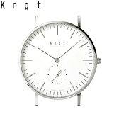 """Knot(ノット)""""クラシック スモールセコンド""""シルバー & ホワイト時計本体のみ(ベルト別売り)腕時計/メンズ/レディース/サファイアガラス/日本製/MADE IN JAPAN/送料無料"""
